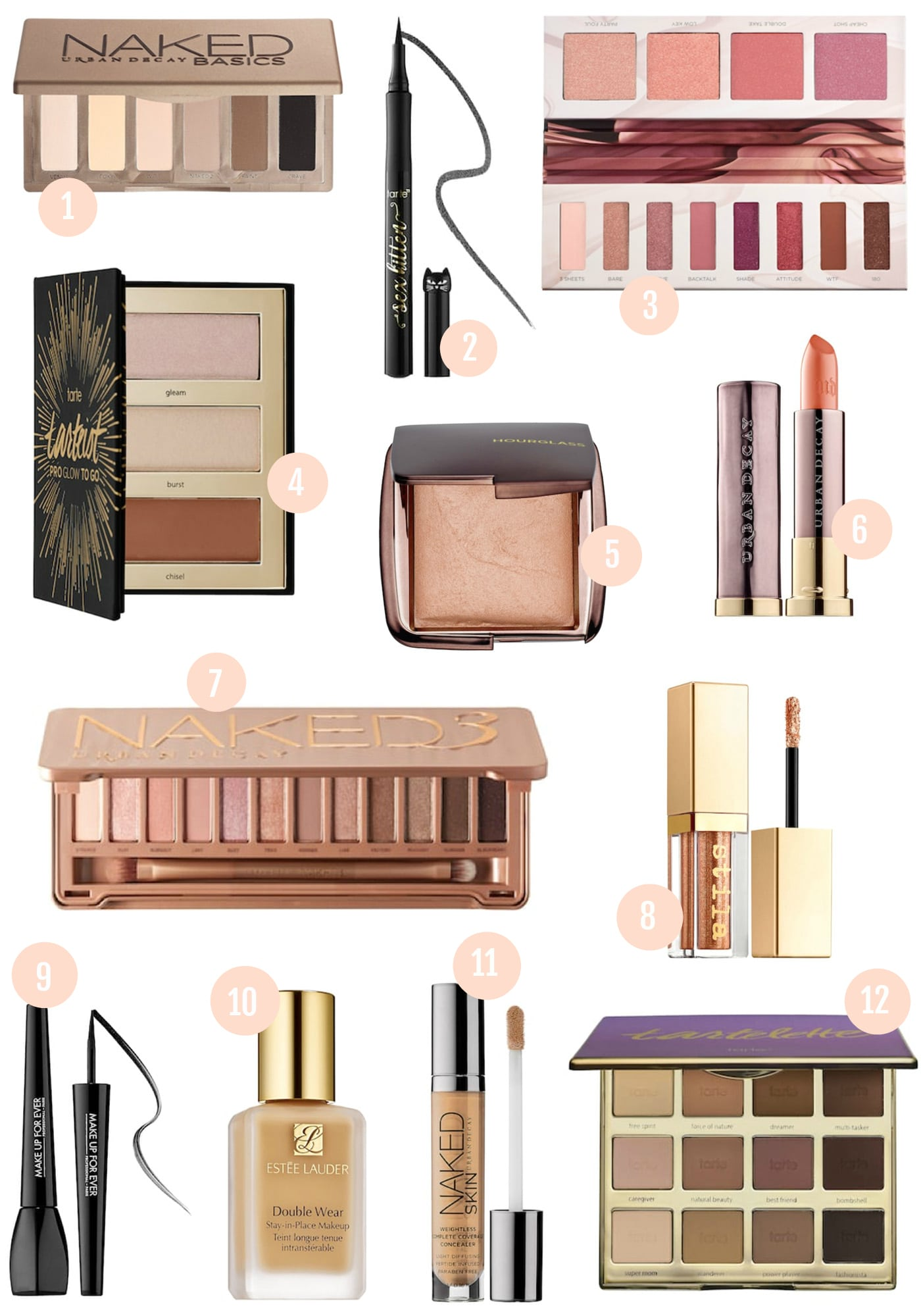 High end beauty products worth the splurge | beauty blush, foundation, highlighter, eyeshadow palettes | lipstick, eyeliner, concealer and blush | popular Orlando blogger Mash Elle | top makeup tips