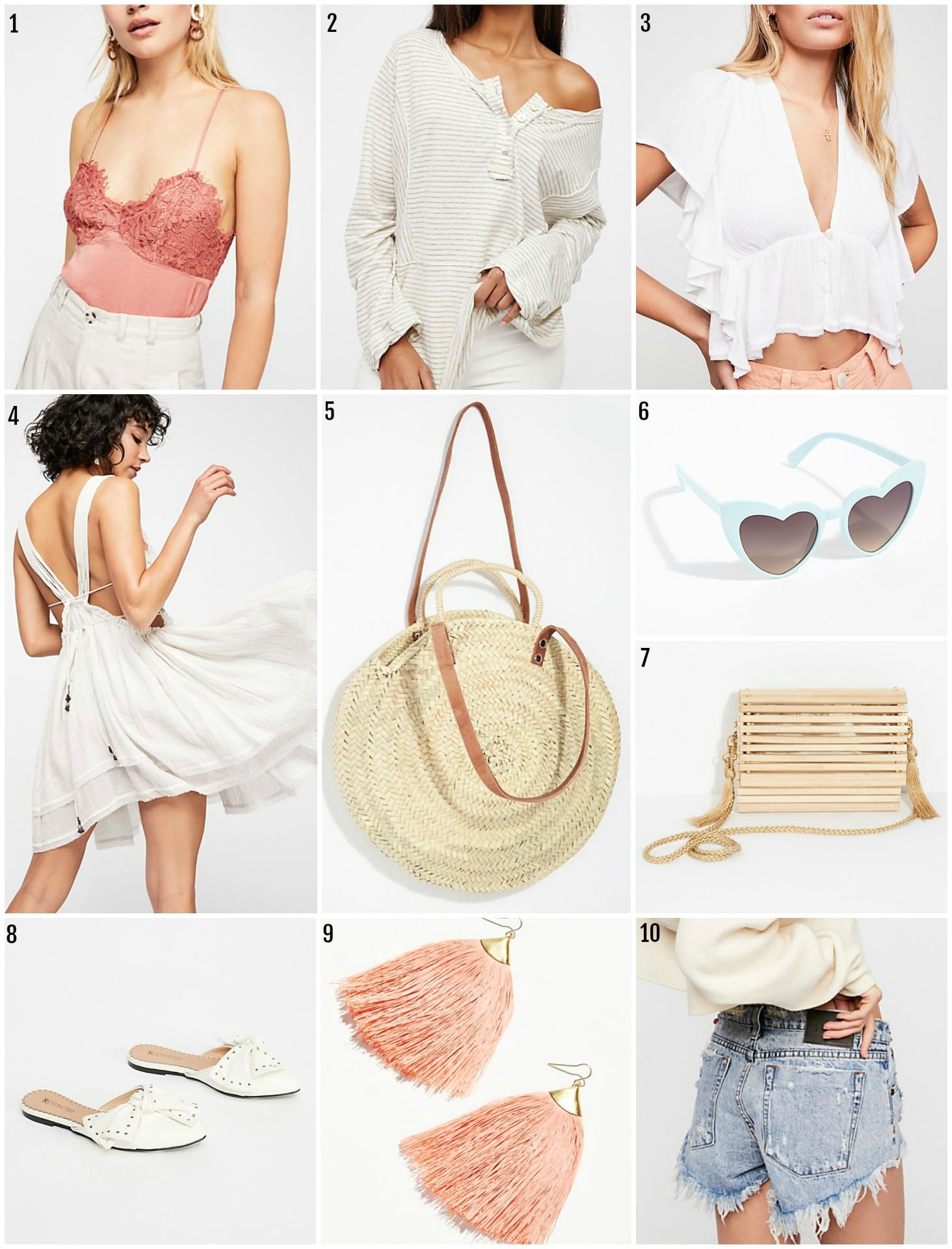 Mash Elle style blogger | spring style |  Free People Spring finds | Free People | fashion inspiration | heart sunglasses | tassle earrings