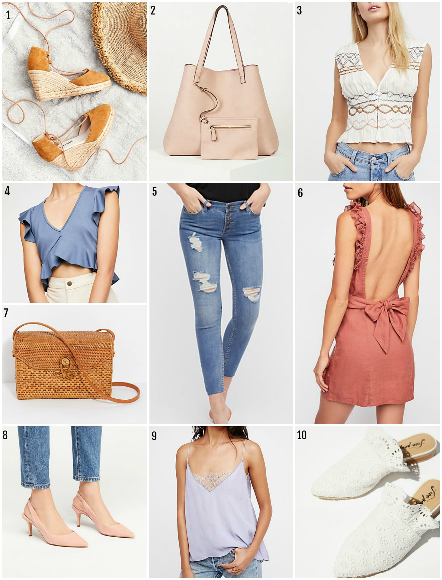 Mash Elle style blogger | spring style | Free People Spring finds | Free People | fashion inspiration | jeans | wedges
