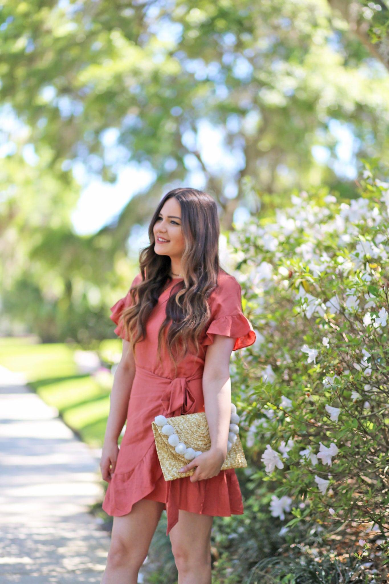 best wrap dresses for summer | wrap dress | pink dress | beauty blogger Mash Elle