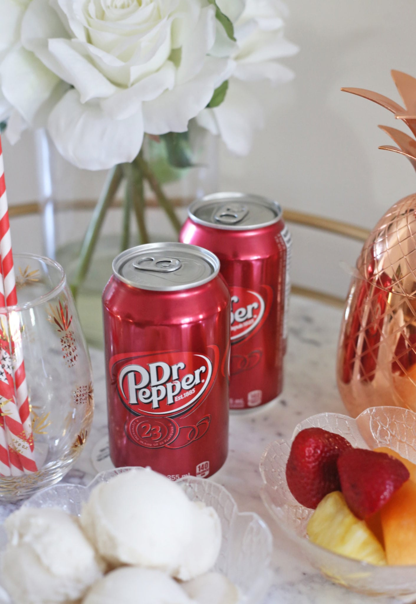 Mash Elle lifestyle blogger | bar cart ideas | summer recipe | refreshing summer float recipe |dr pepper
