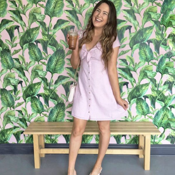 Mash Elle dairy free diet beauty blogger pink dress