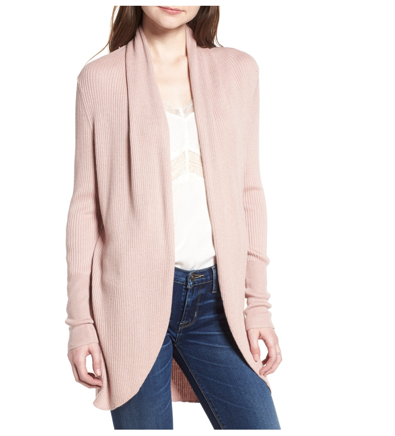 comfortable long cardigan | pink blush | cute top for women