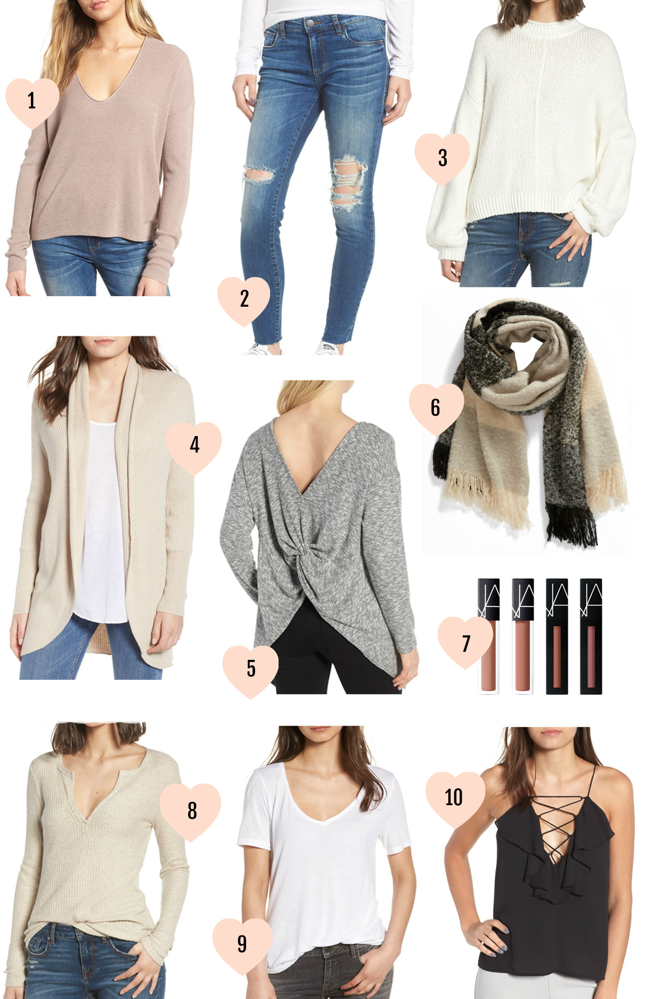 nordstrom anniversary sale under $50 beauty blogger Mash Elle shirts scarf makeup