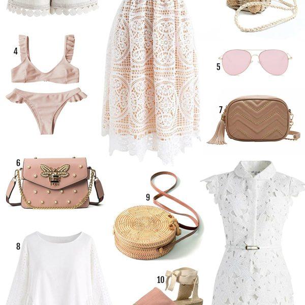 Amazon Prime sale beauty blogger Mash Elle summer fashion shoes, dress, pink bag, cactus