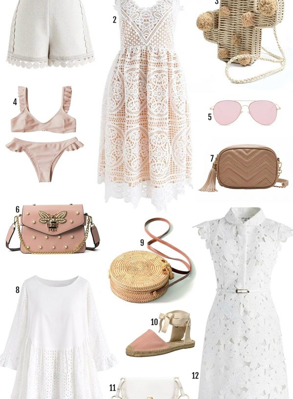 Amazon Prime sale beauty blogger Mash Elle summer fashion shoes, dress, pink bag, cactus