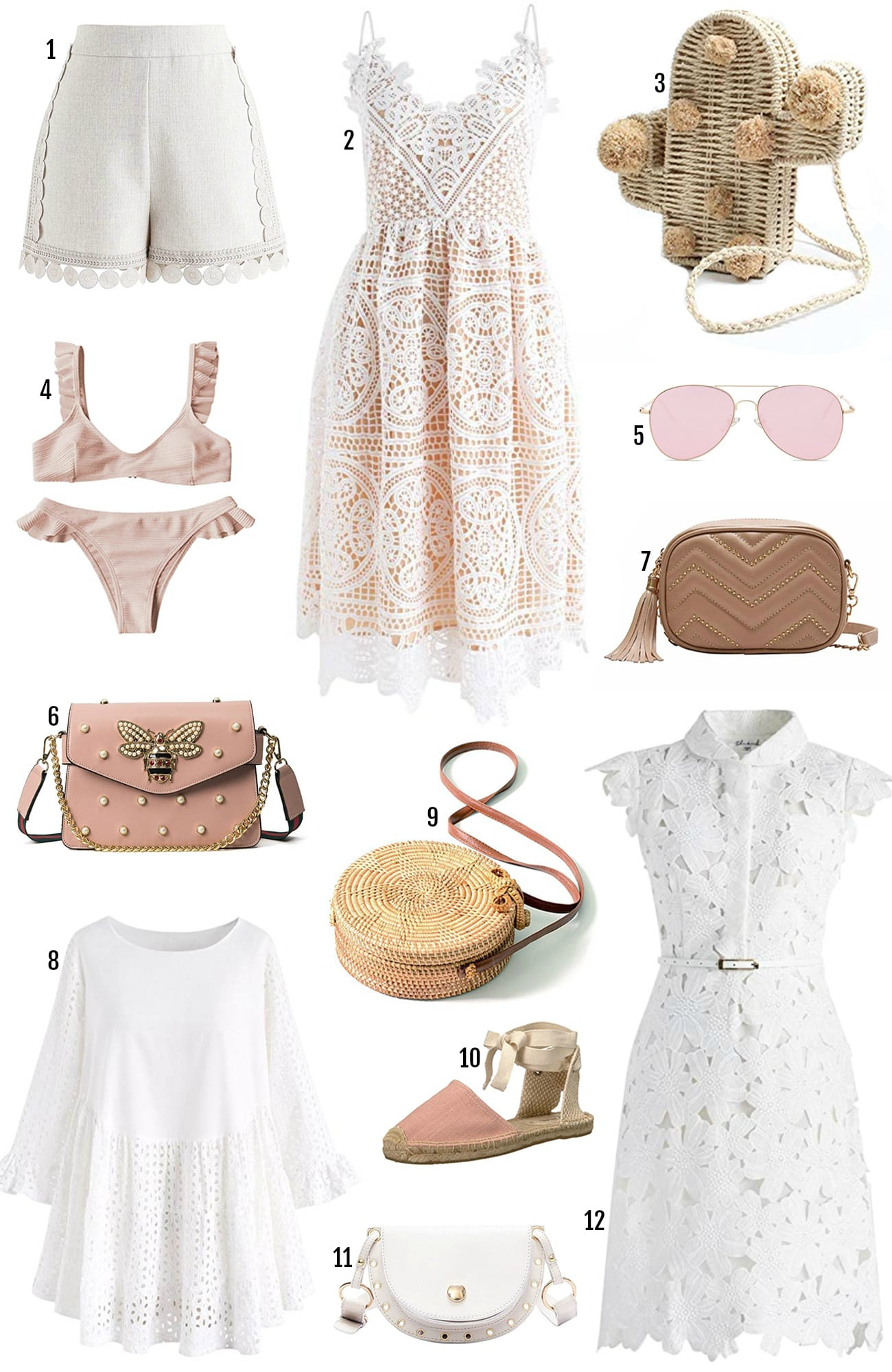 Amazon Prime sale beauty blogger Mash Elle summer fashion | white shoes | summer dress | pink bag | cactus purse