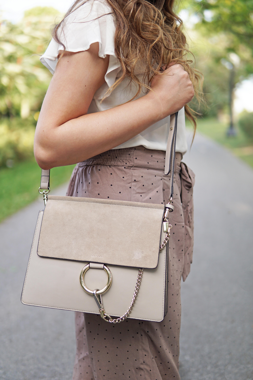 Mash elle beauty and lifestyle blogger | Chloe bag dupes | fashion | ruffle shirt | fall fashion