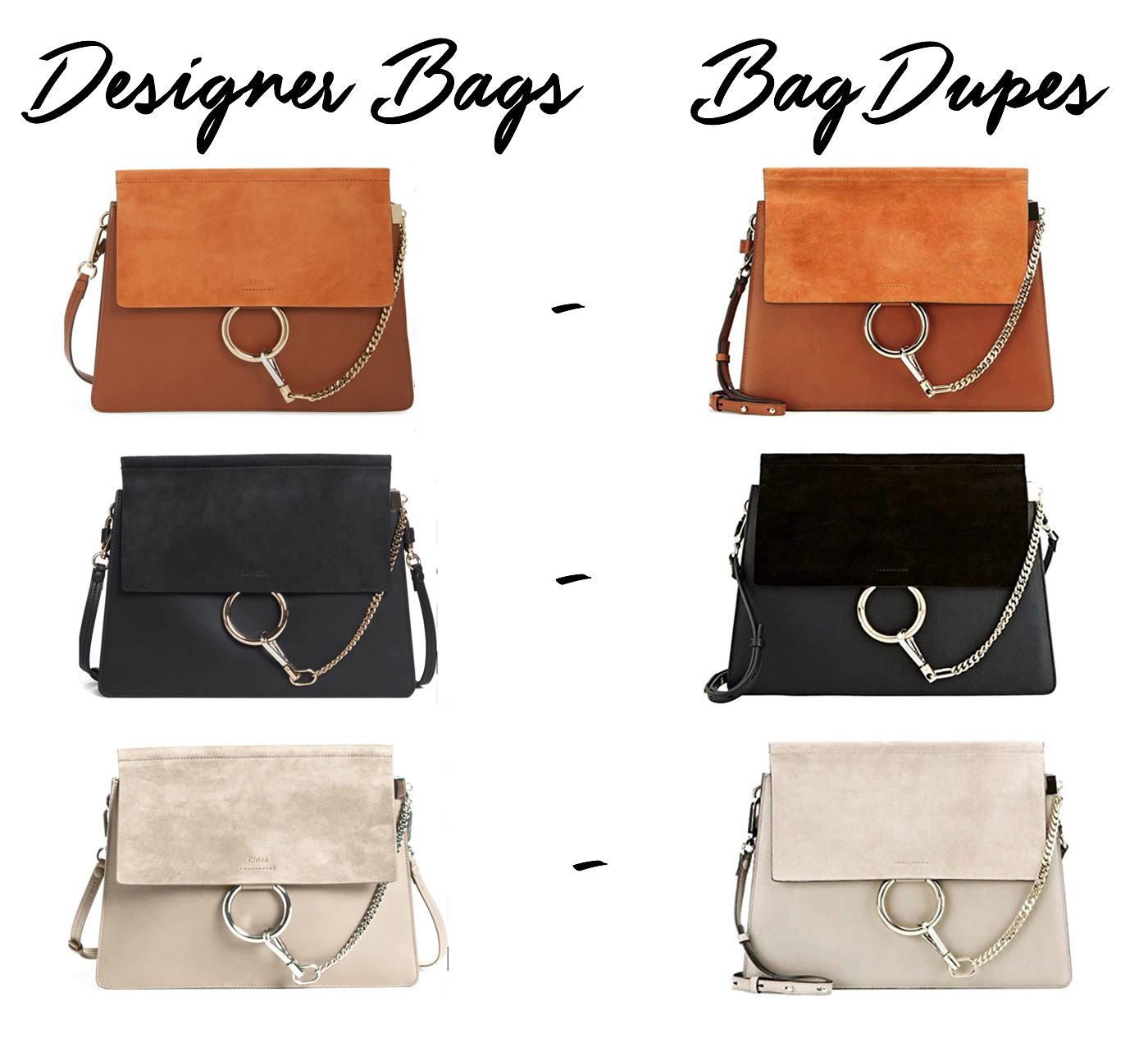 Mash elle beauty and lifestyle blogger | Chloe bag dupes | brown black white Chloe purse | purse dupes