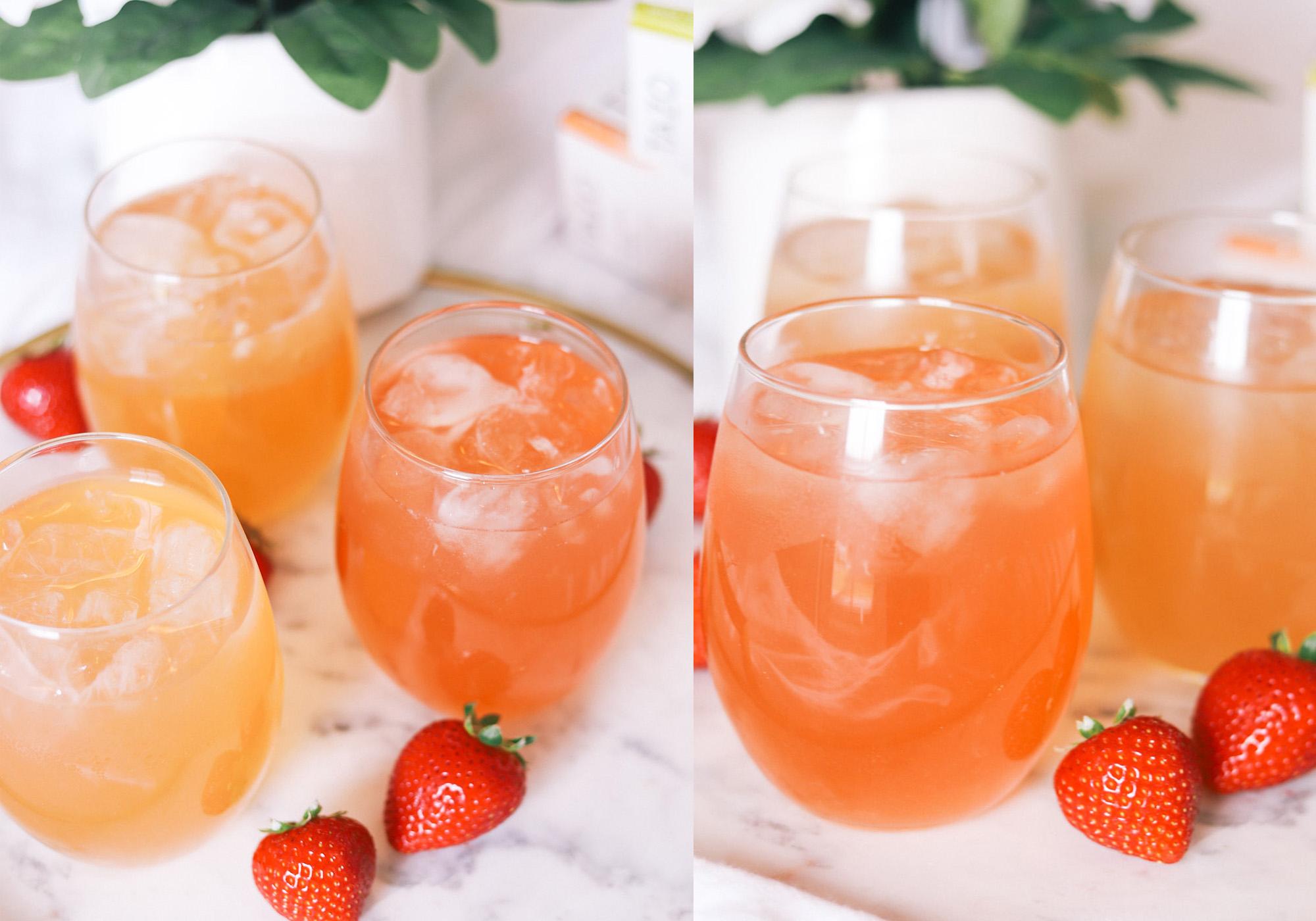 Tea recipe ideas | tazo tea | strawberry tea | Ashley Brooke Nicholas