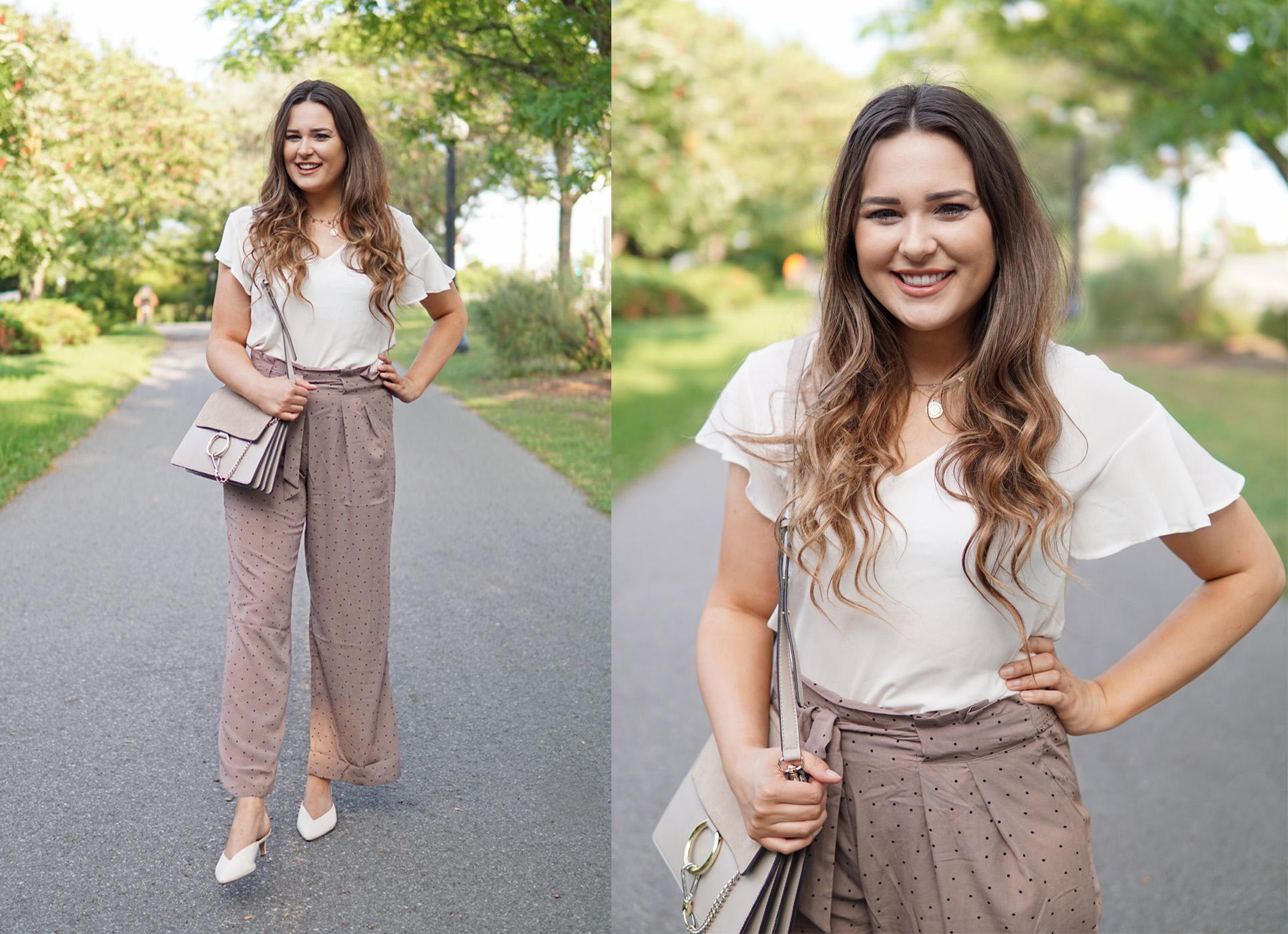 Mash elle beauty and lifestyle blogger | Chloe bag dupes | polka dot fashion | kitten heels | fall fashion