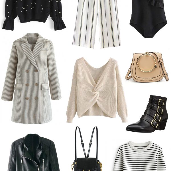 Mash Elle beauty blogger fall Fashion finds white pink fall clothes