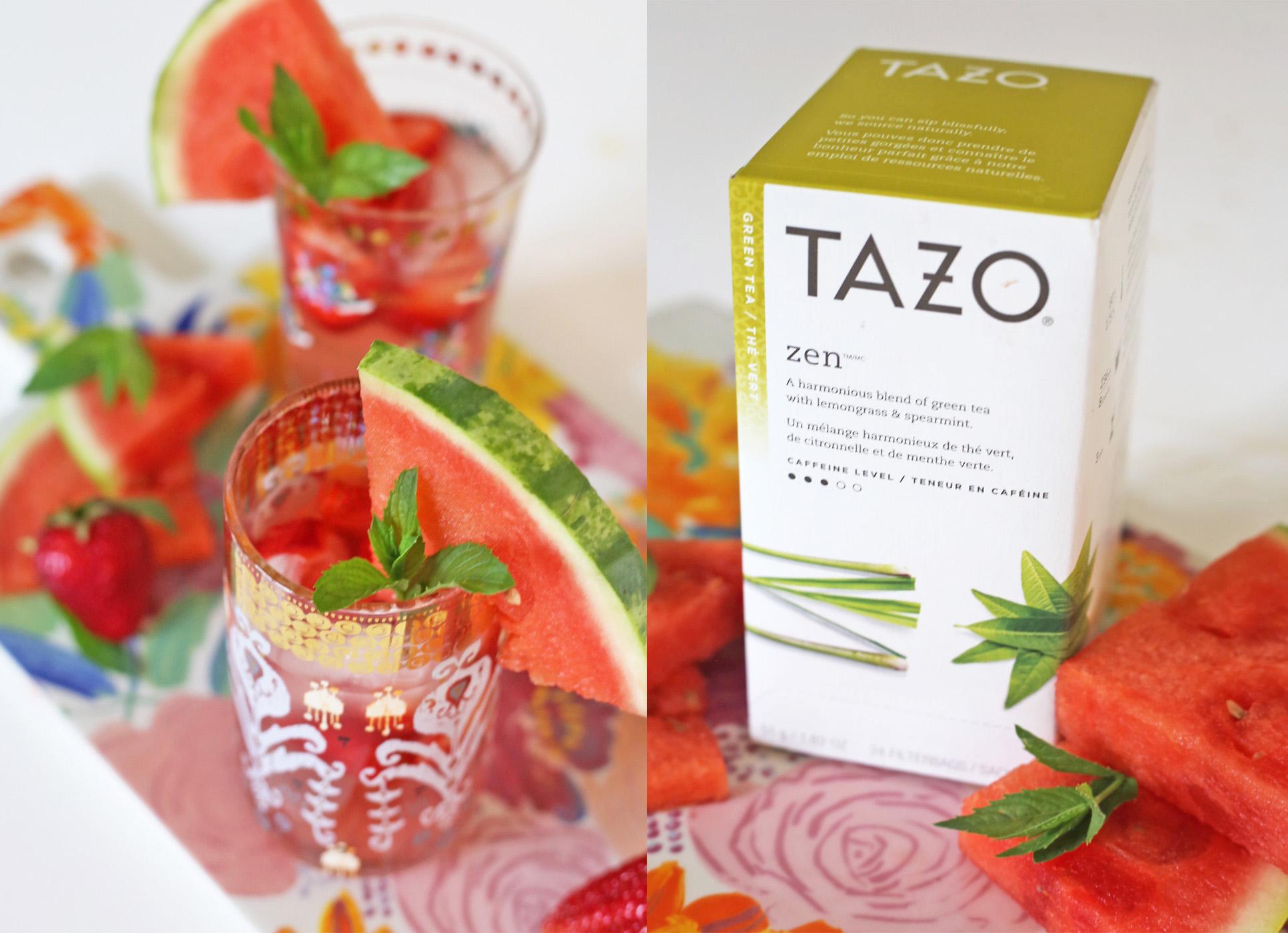 summer drink ideas | watermelon iced tea | Tazo tea |  drink recipe | Mash Elle lifestyle
