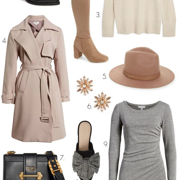 Mash Elle blogger | new in nordstrom| beauty fashion | Nordstrom sale for fall | Nordstrom fall collection | Prada purse | Guess belt OTK boots | black booties | fall heels | long sleeved dress