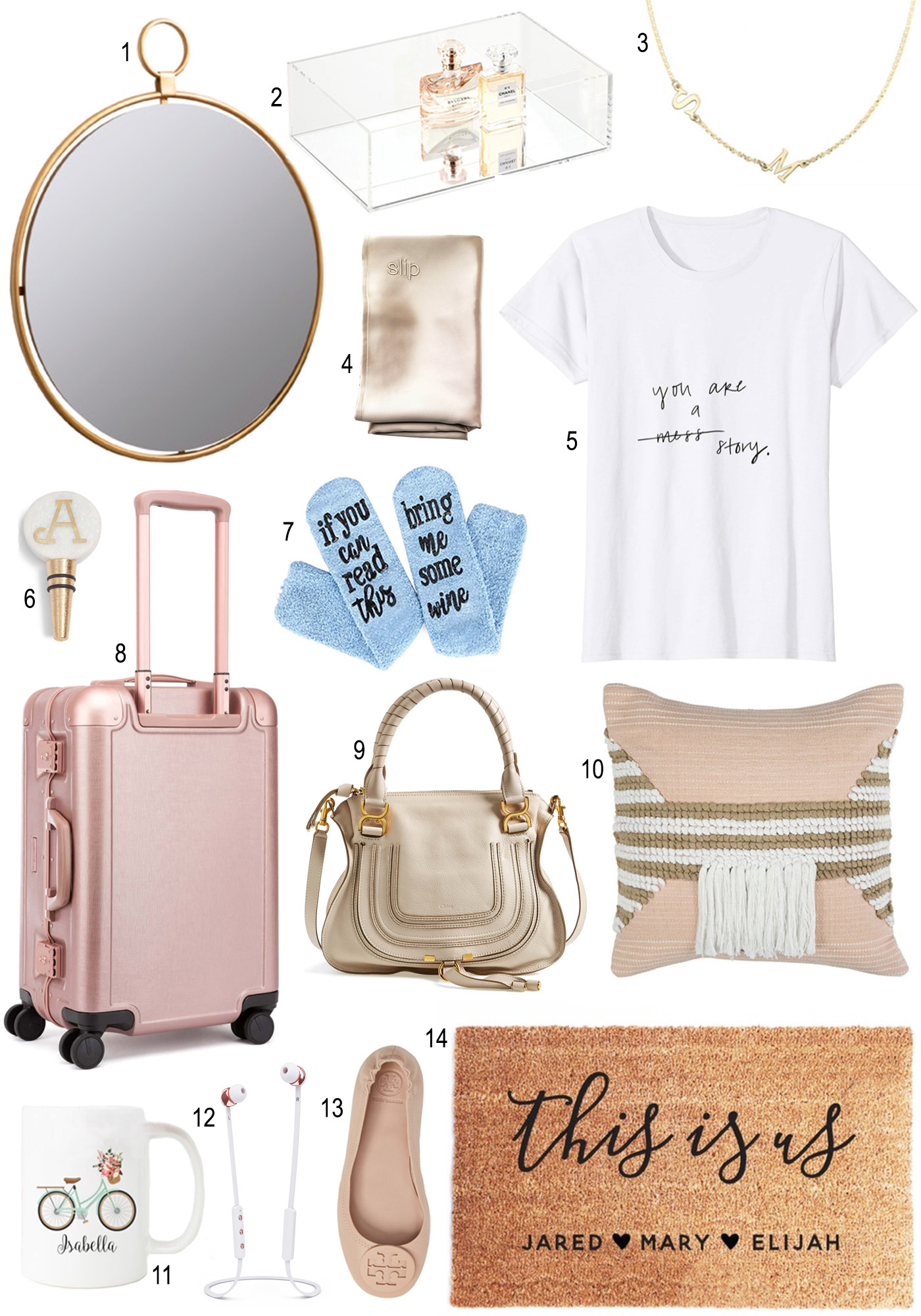 Mash Elle Gift Guide 2018 | Christmas Gifts | Holiday Gift Ideas | gold mirror | home decor gifts