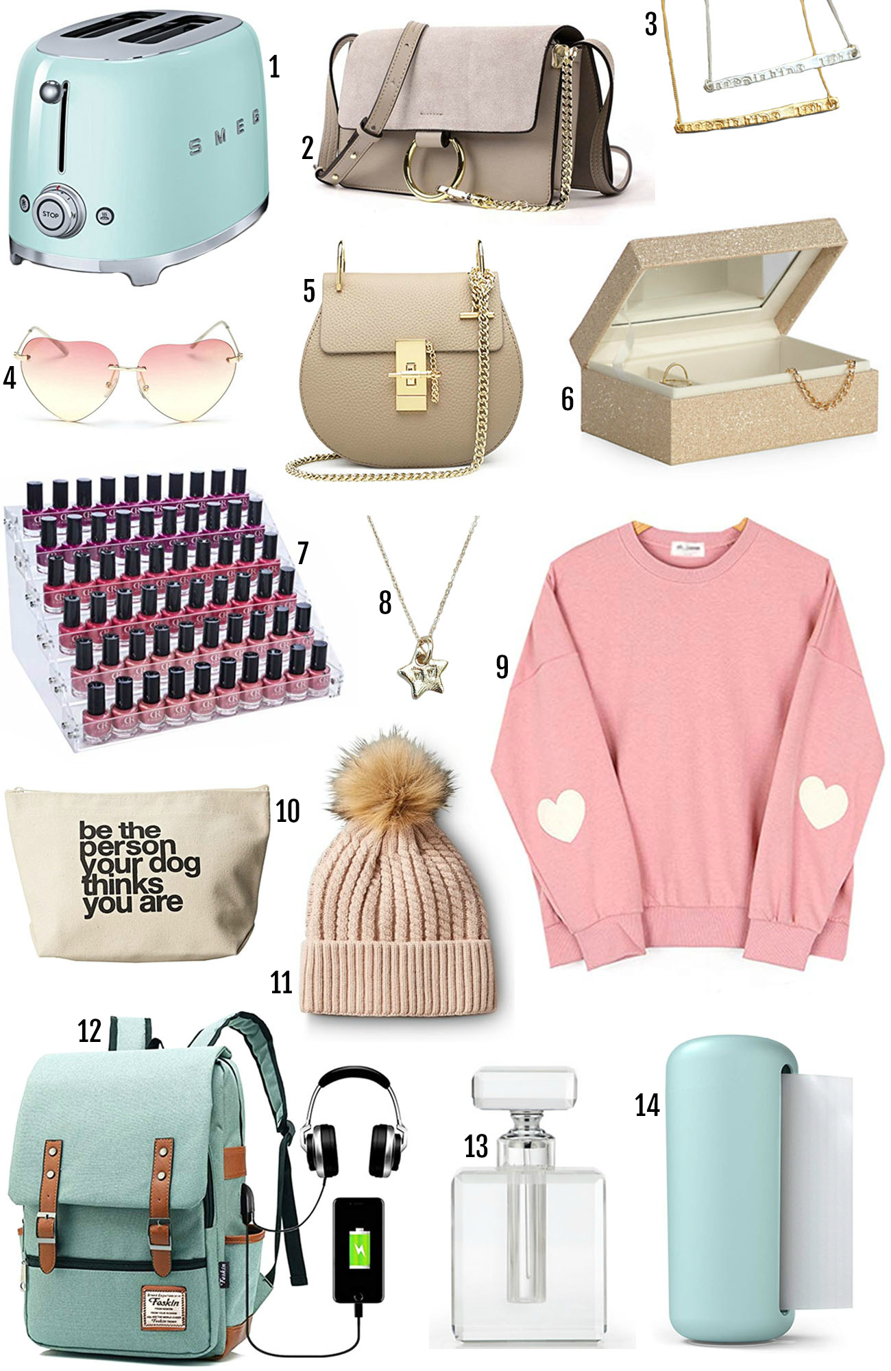 Mash Elle beauty blogger gifts | gift ideas | last minute Christmas gifts | jewelry box | coat | iphone case | necklace