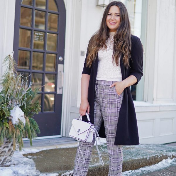 Styling plaid pants | beauty blogger Mash Elle | plaid style | how to wear plaid | fashionable plaid | velvet boots