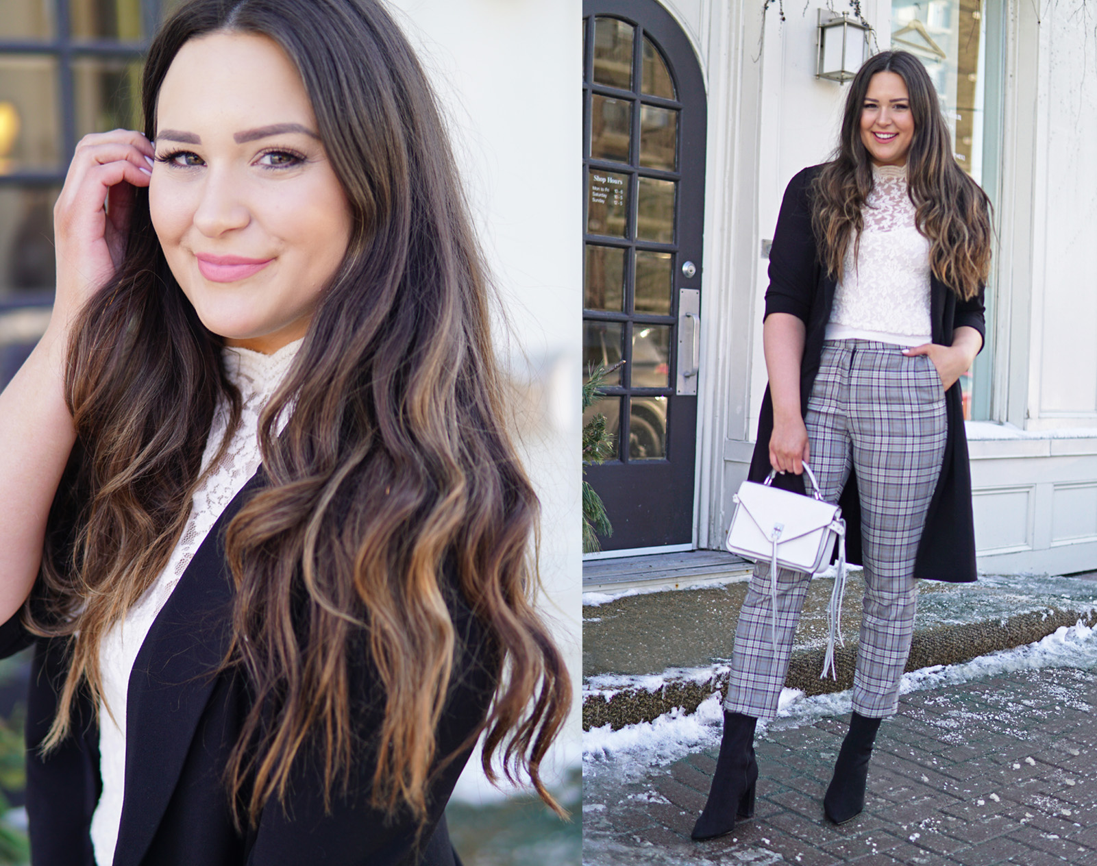 Styling plaid pants | beauty blogger Mash Elle | plaid style | how to wear plaid | fashionable plaid