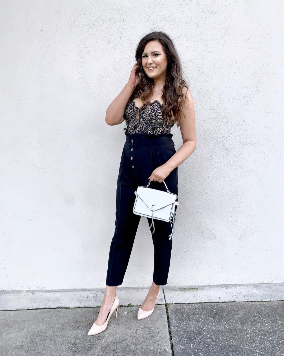 Mash Elle beauty blogger | winter to spring outfit | winter fashion | spring fashion | pumps | high heels | corset