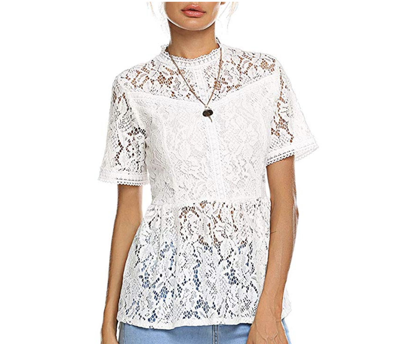 Amazon shopping ideas | Amazon sale | Amazon spring fashion | spring clothing | white shirt | white lace shirt