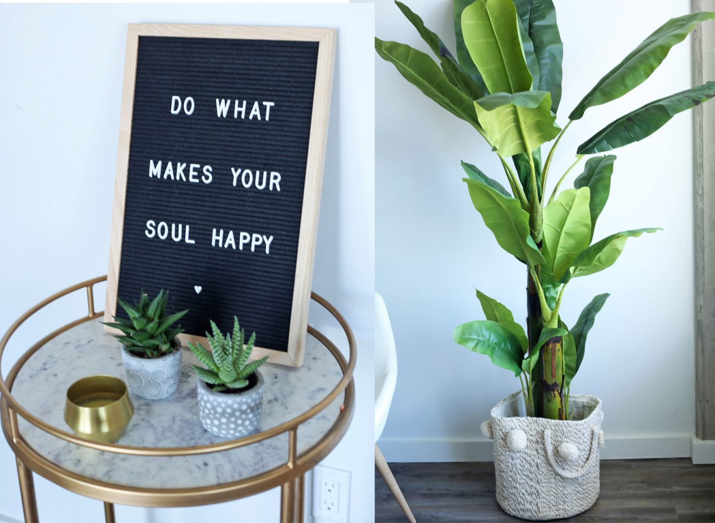 Mash Elle lifestyle blogger | home decor | calm home | cute home decor | board decoration| succulents | gold accents