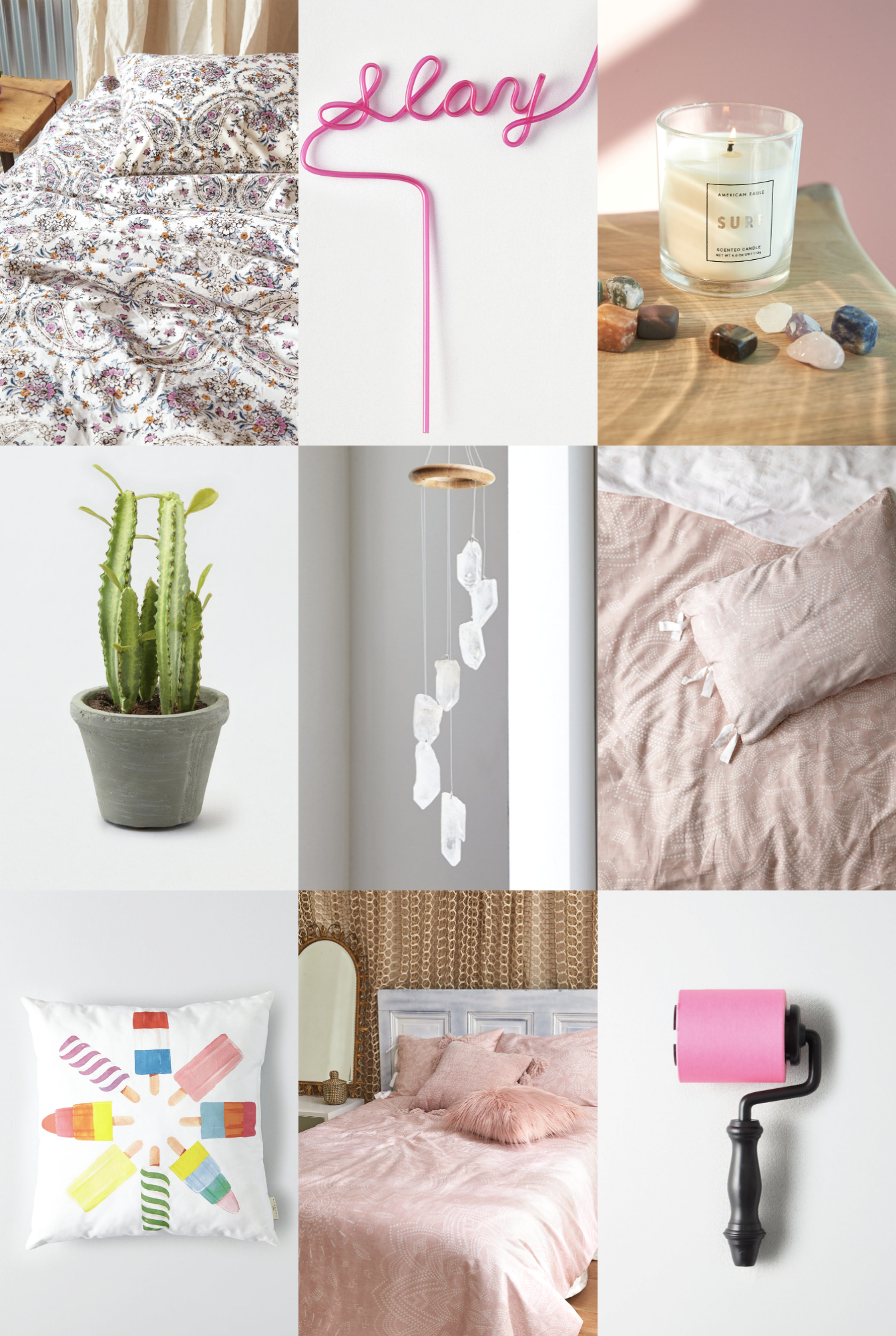 Mash Elle lifestyle blogger | home design | home decor | neon sign | room inspo | crystal decorations | cactus | spring home decor