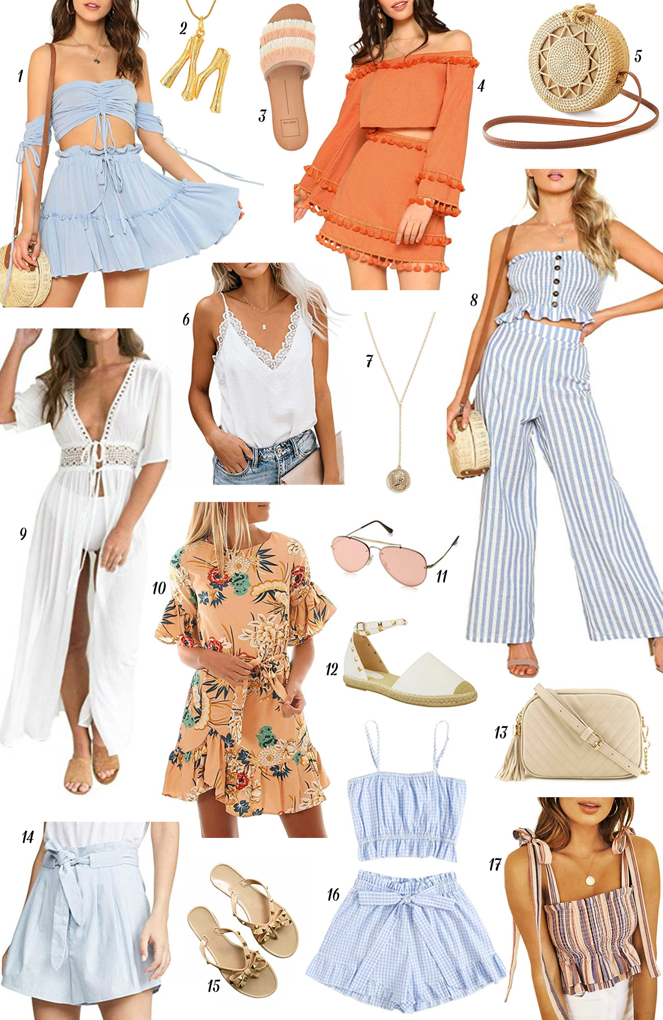 mash elle style fashion blogger | Amazon fashion| Amazon summer | summer fashion| summer style | romper | pink sunglasses | coral two piece | gold accents
