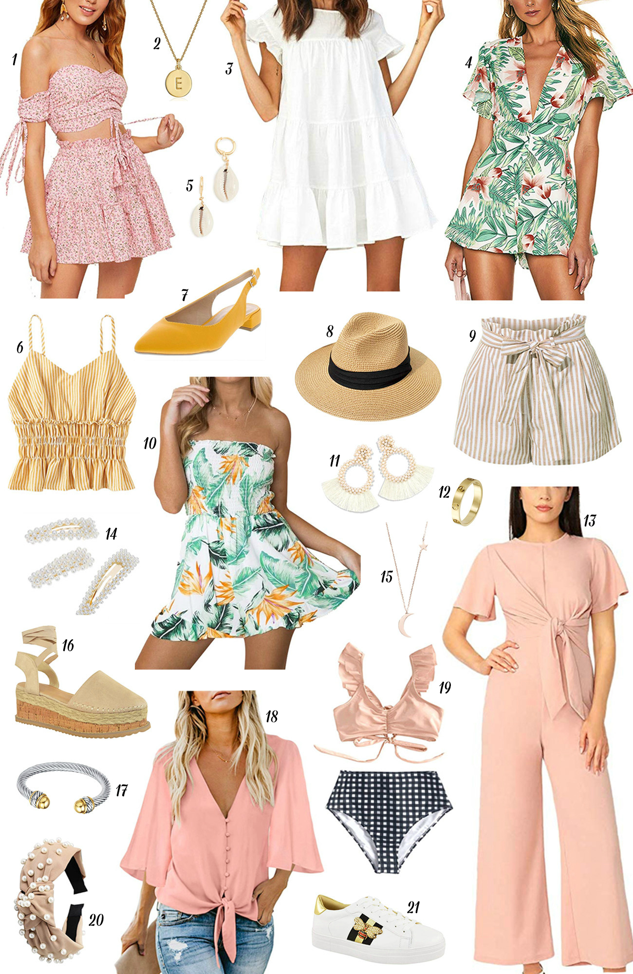 Mash Elle style blogger | summer fashion | summer style | floral print | summer hat | slingback heels | yellow mules