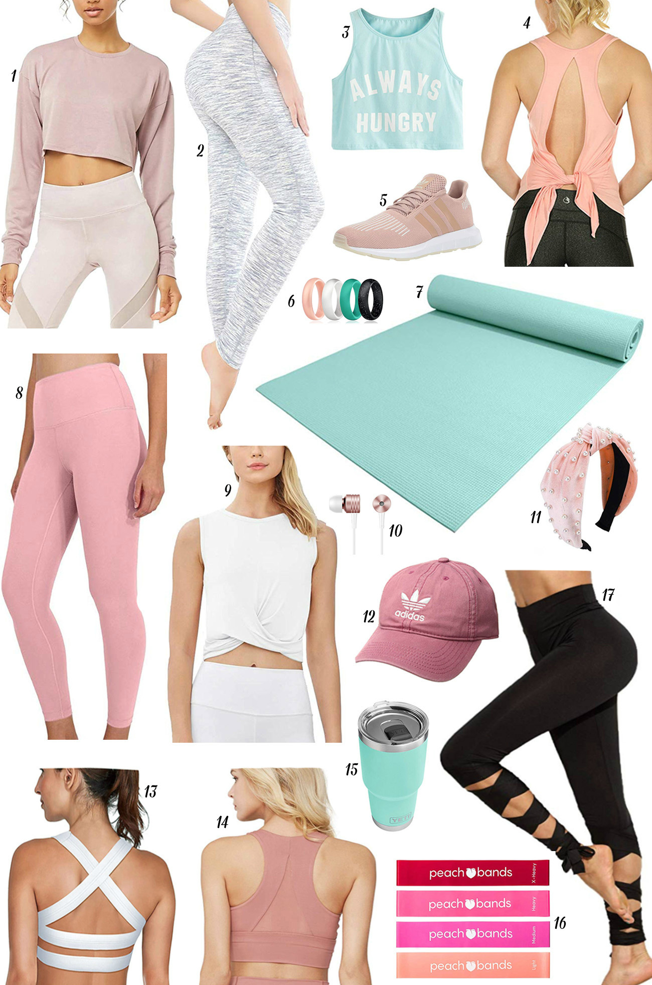 cute sassy workout gear | Mash Elle beauty blogger | fashion blogger | what to wear at the gym | gym outfit | always hungry tee | leggings