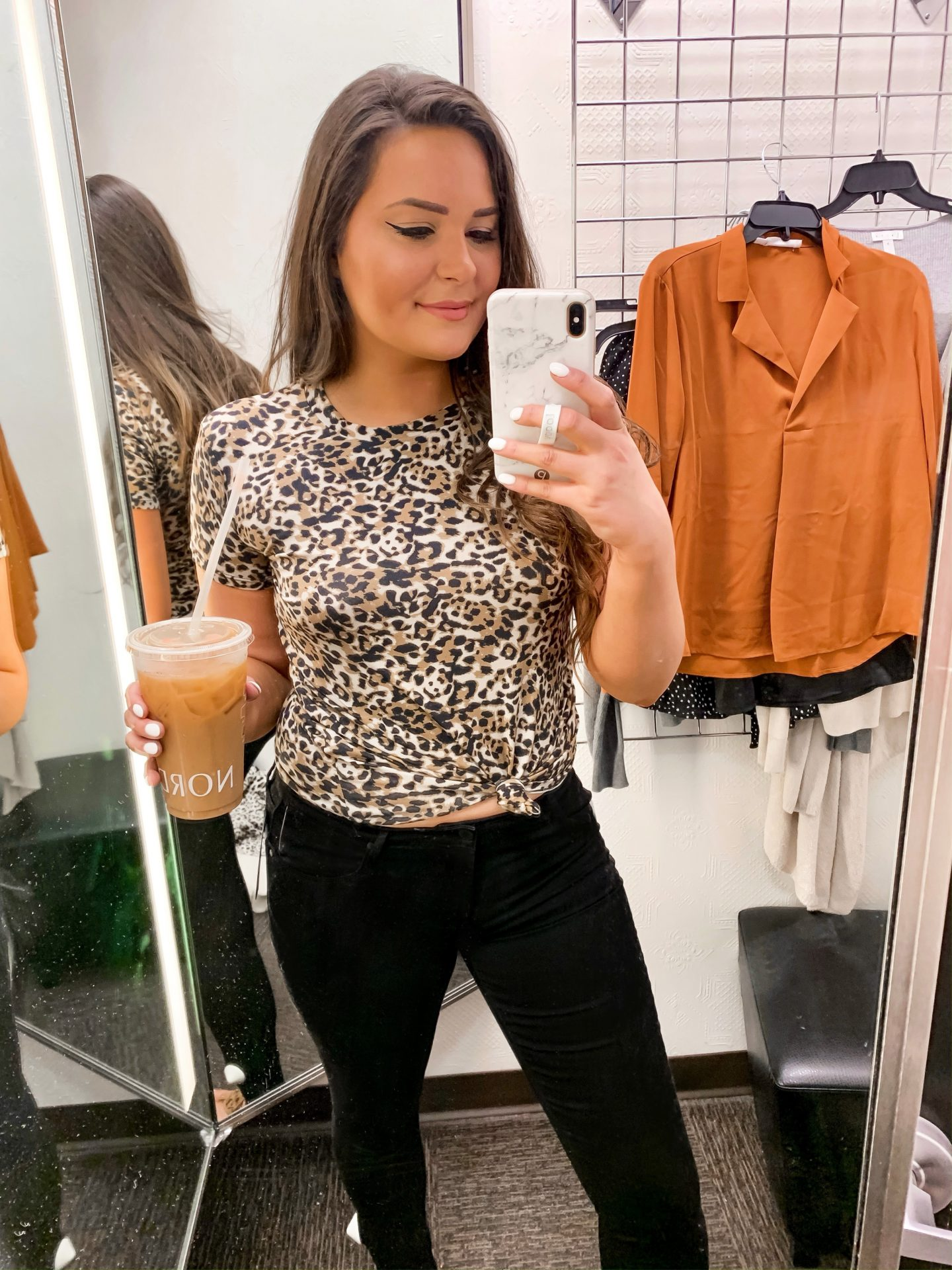 Mash Elle style fashion blogger | Nordstrom Sale | what to buy at Nordstrom | cheetah print tie up shirt
