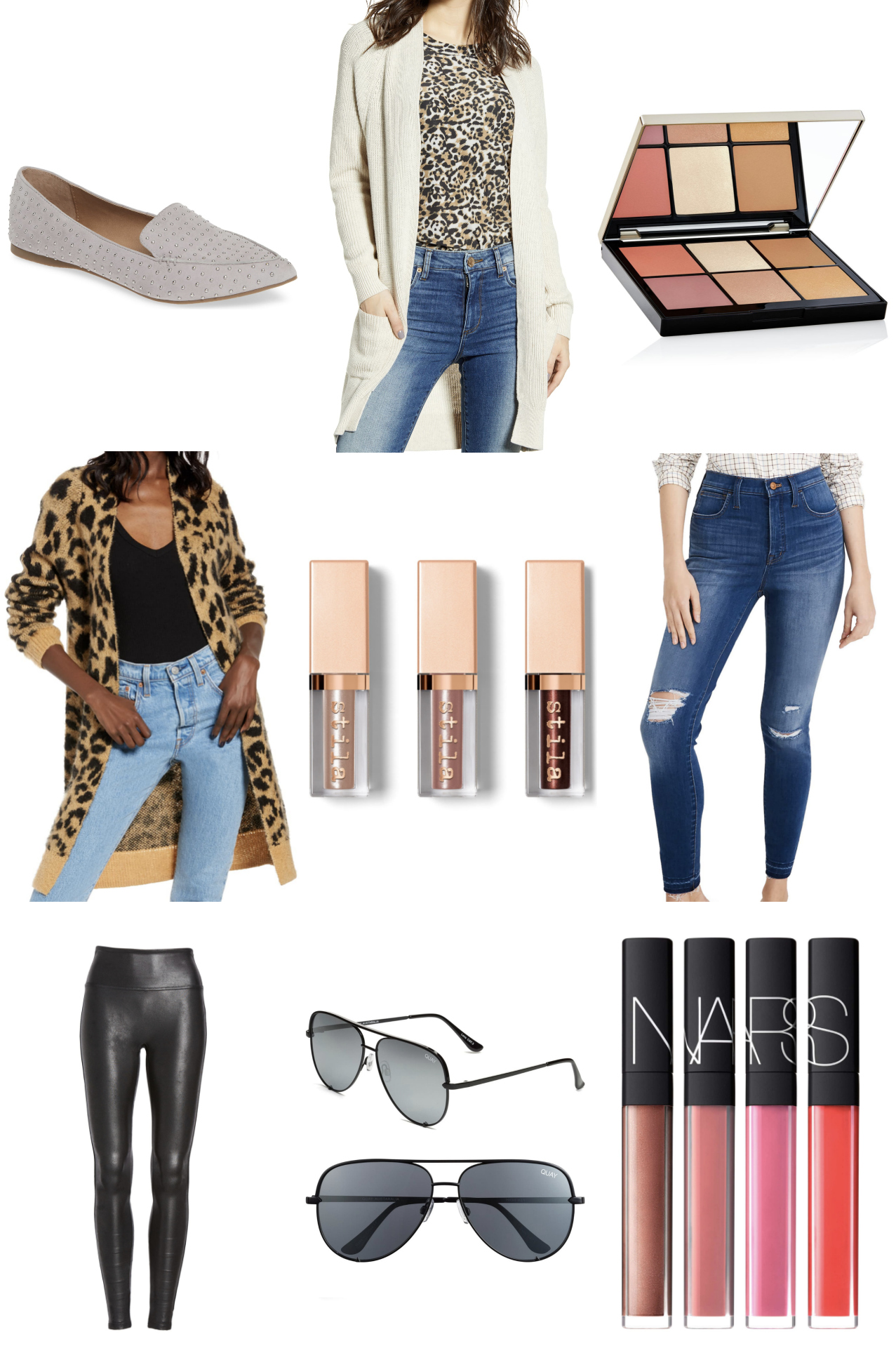 Mash Elle fashion style blogger | beauty blogger | Nordstrom sale | Nordstrom fashion | summer Style | leopard print jacket | Nars lipstick | eyeshadow