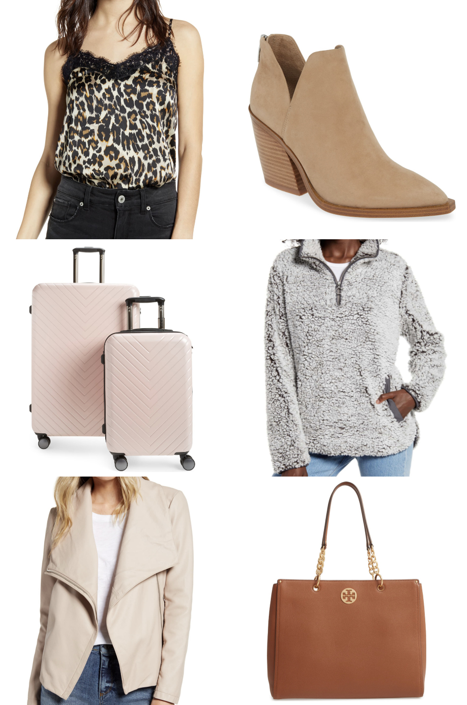Mash Elle fashion style blogger | beauty blogger | Nordstrom sale | Nordstrom fashion | summer Style | tan boots|  leopard cami | blush luggage
