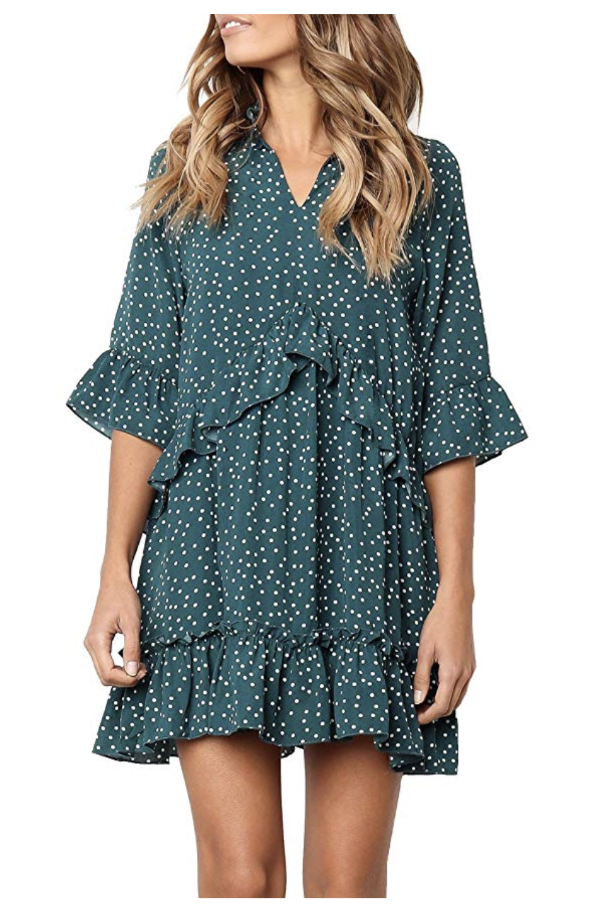 Amazon Prime Day 2 | Amazon Prime | Prime Day 2 | Amazon Fashion | Beauty blogger Mash Elle | green polka dot dress