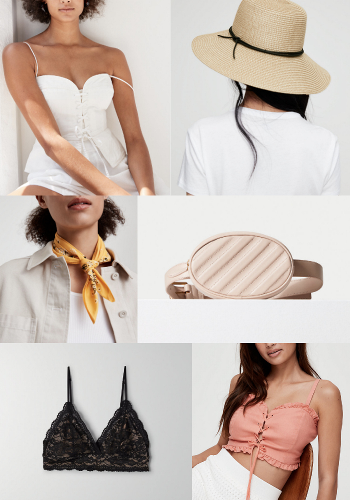 Aritzia sale | Aritzia fashion | Mash Elle fashion blogger | white tee | summer hat | summer fashion