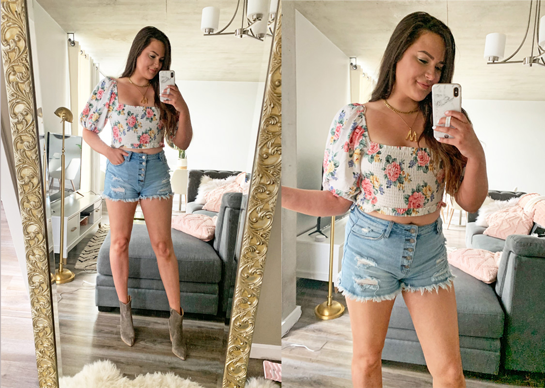 Mash Elle style fashion blogger   what to wear in hot weather   cute summer outfits  outfits that keep you cool   summer style   off the shoulder top   shorts