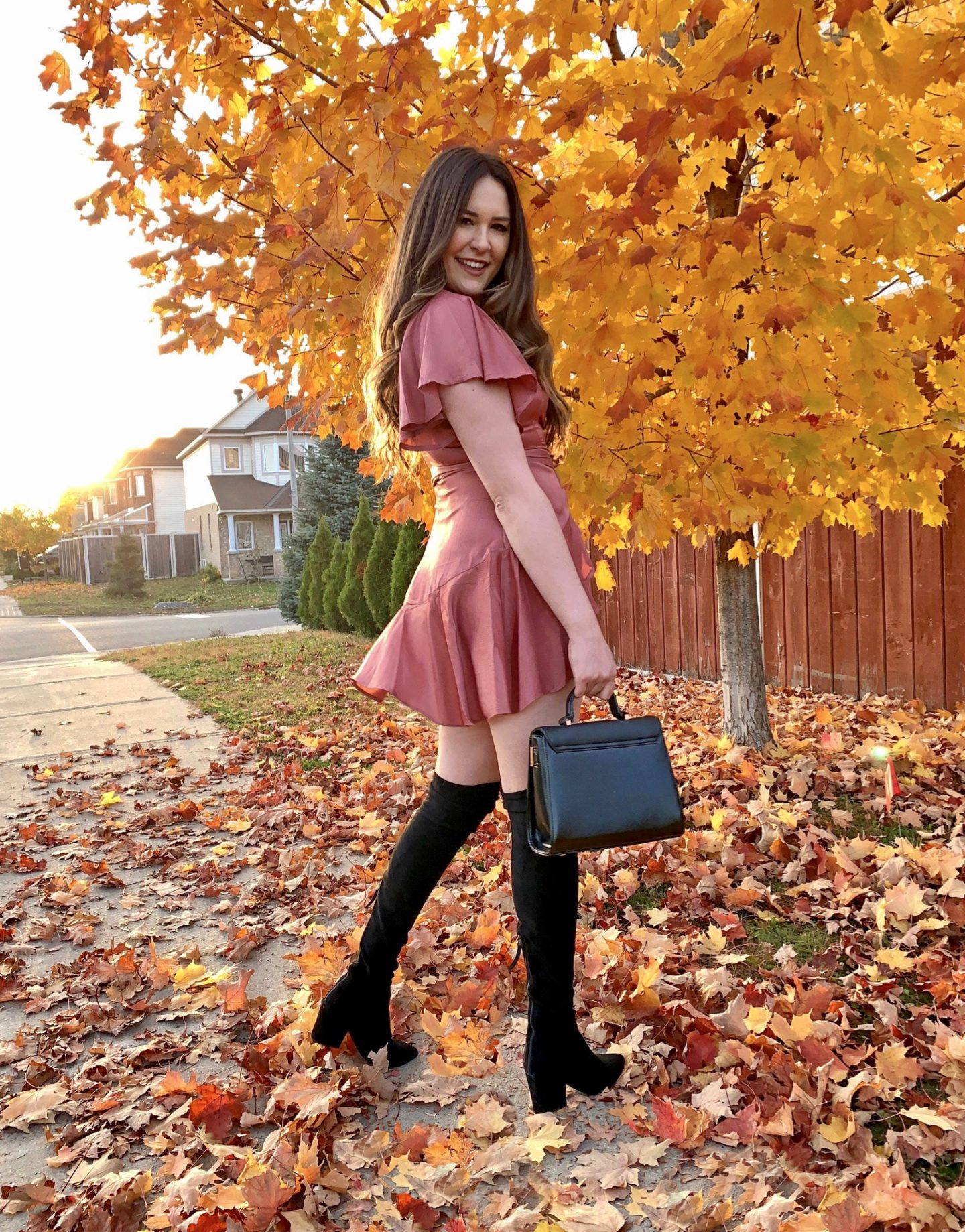 styling over-the-knee boots | OTK boots| boots| fall fashion| mash elle fashion blogger