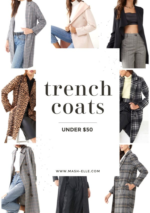 Best Trench Coats Under $50