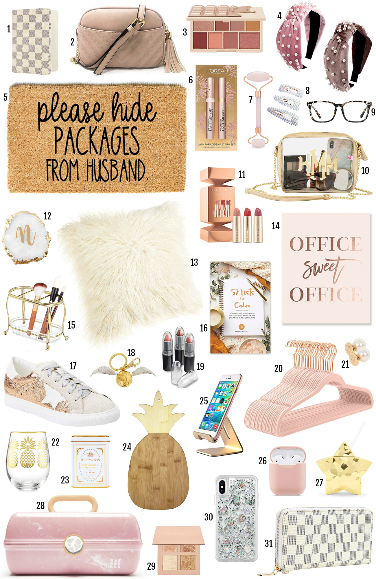 gifts for her | christmas gifts |xmas gifts | what to buy for christmas | xmas gift girlfriend | girl gifts | gift ideas for women | office sign| purse | makeup bag| lipstick