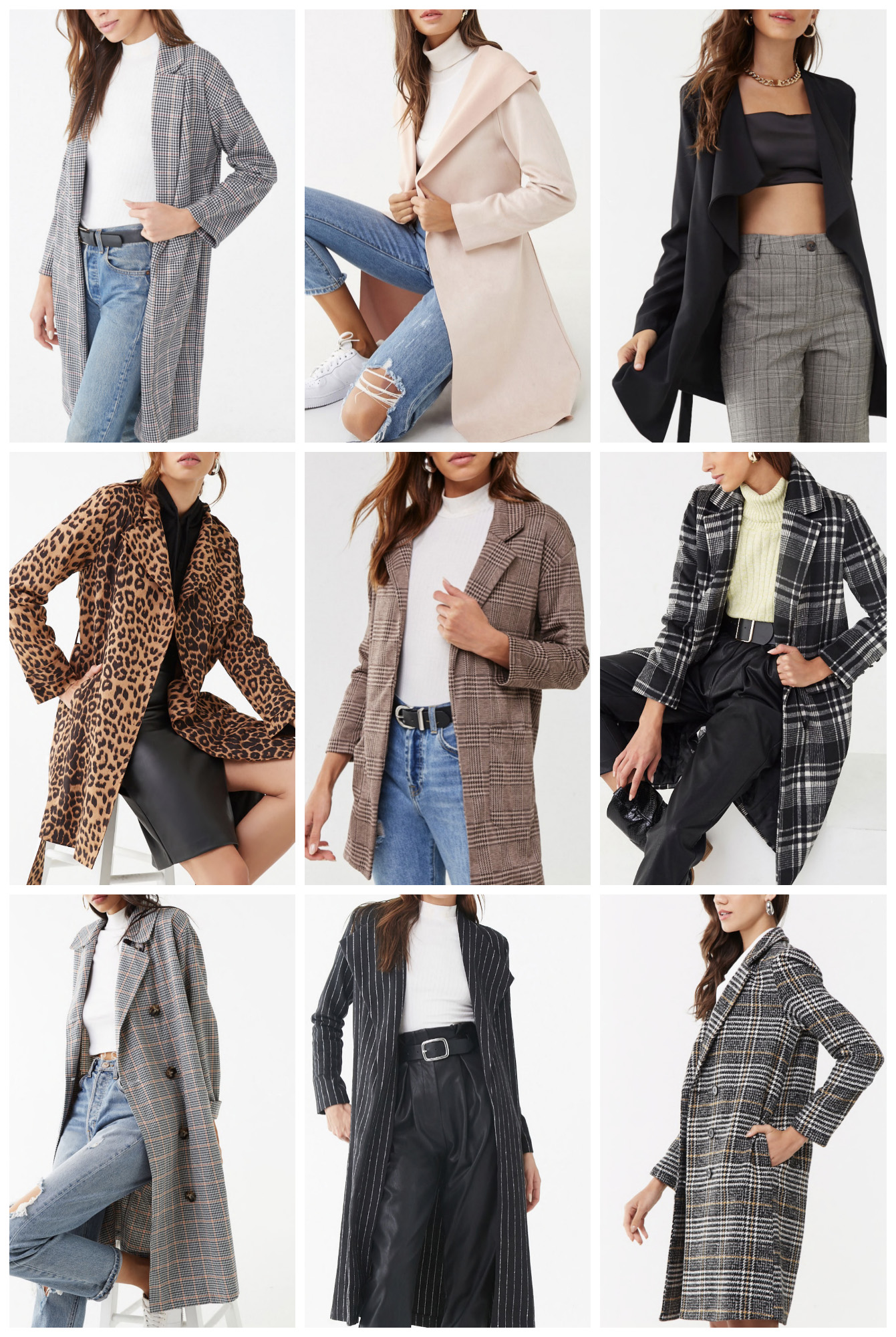 trench coats under $50 | affordable trench coats | leopard print |