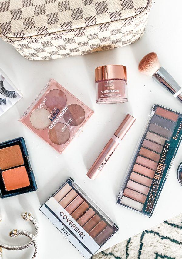 Drugstore Makeup Starter Kit + Designer Makeup Bag Dupe
