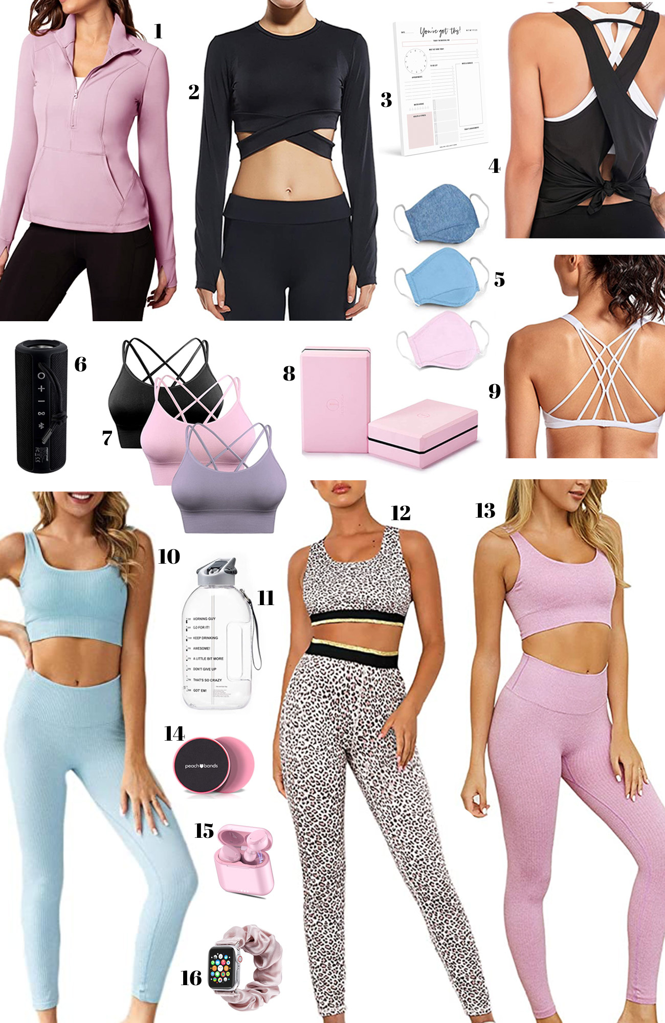 workout clothing | athleisure | workout clothes | running shirt | sports bra | yoga pants | yoga mat