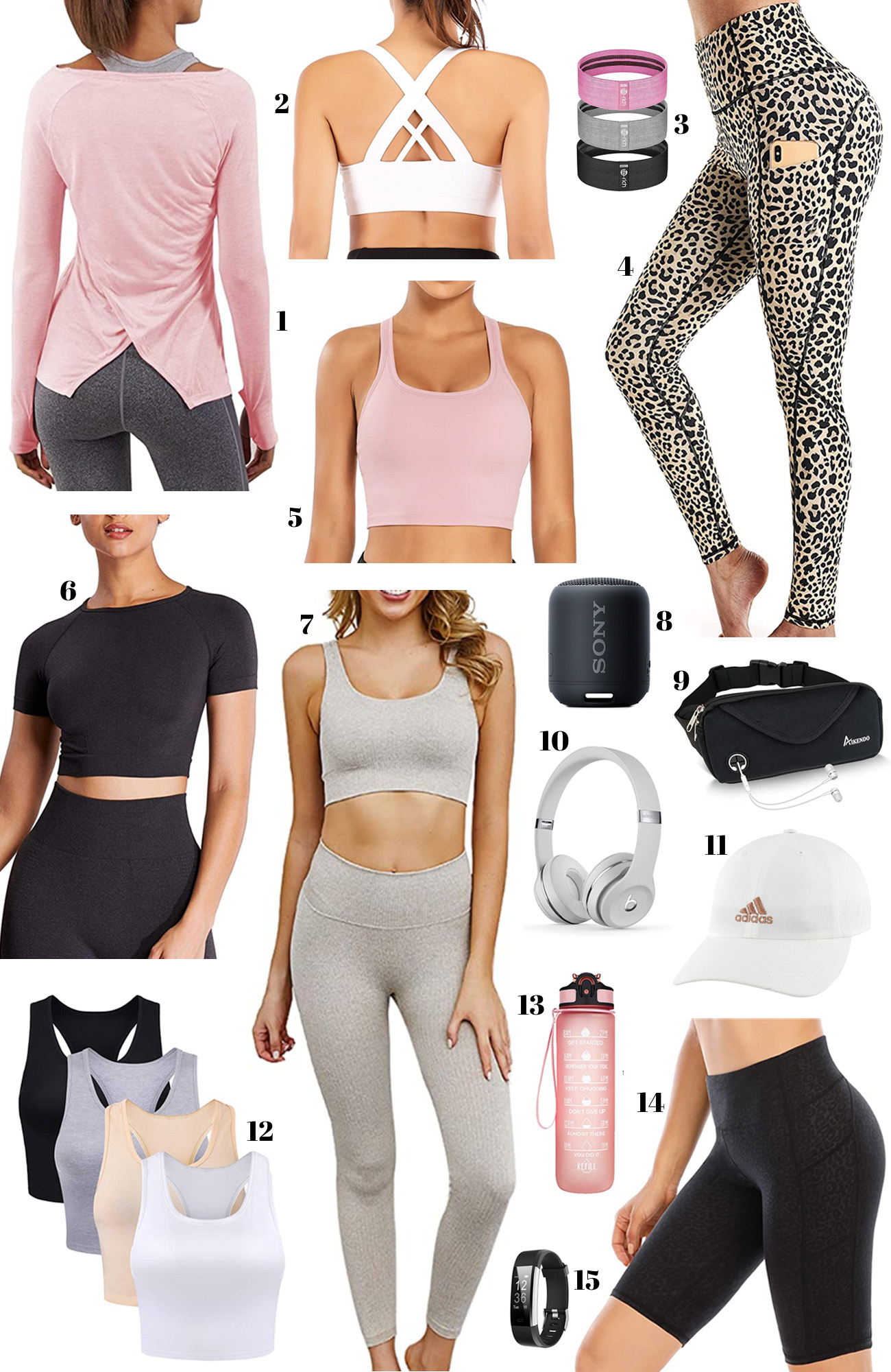 workout clothing   athleisure   workout clothes   running shirt   sports bra   yoga pants   yoga mat