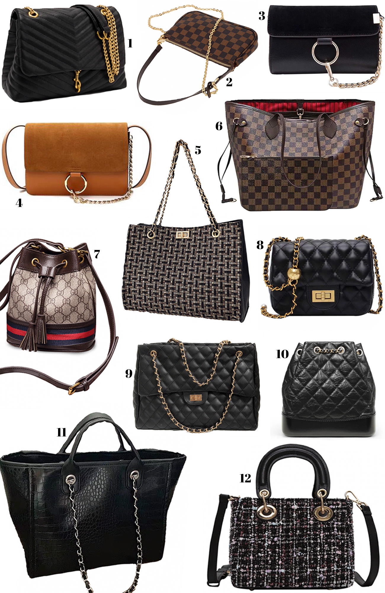 designer dupe bags | designer bags | inexpensive purses | where to get a good deal on purses | cheap purses |