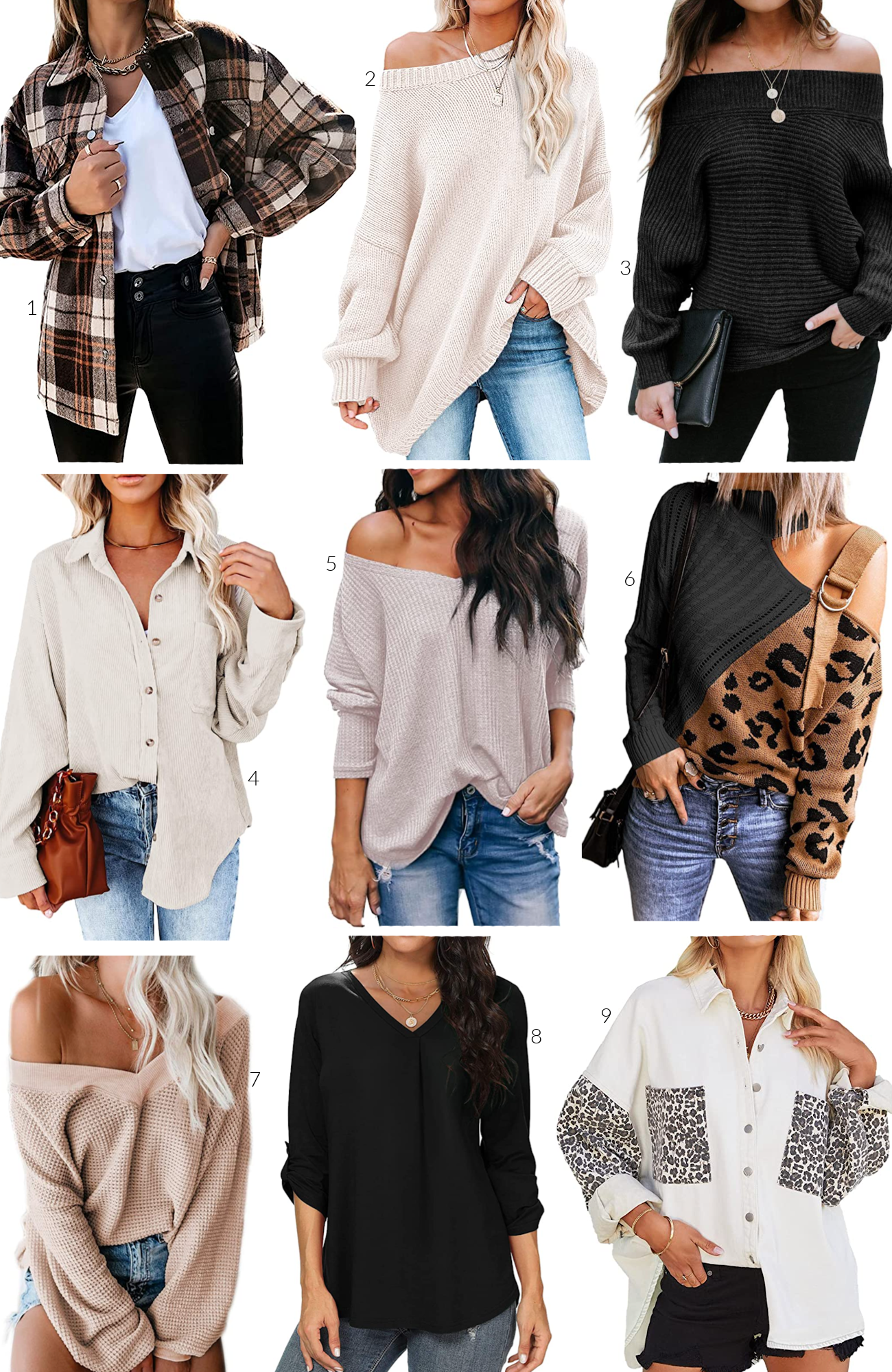 The best tops to wear with leggings, affordable Amazon tops, tops to hide tummy, tops to cover stomach, flattering sweaters for women, flattering tops for women